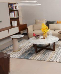 Bàn trà (Bàn sofa) phòng khách gỗ hiện đại hình tròn BT1911-2G