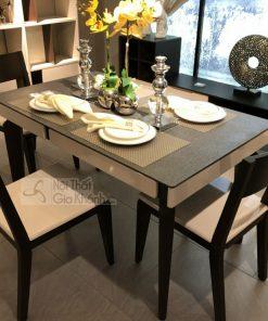 Bộ bàn ghế ăn gỗ nâu nhập khẩu PA3325