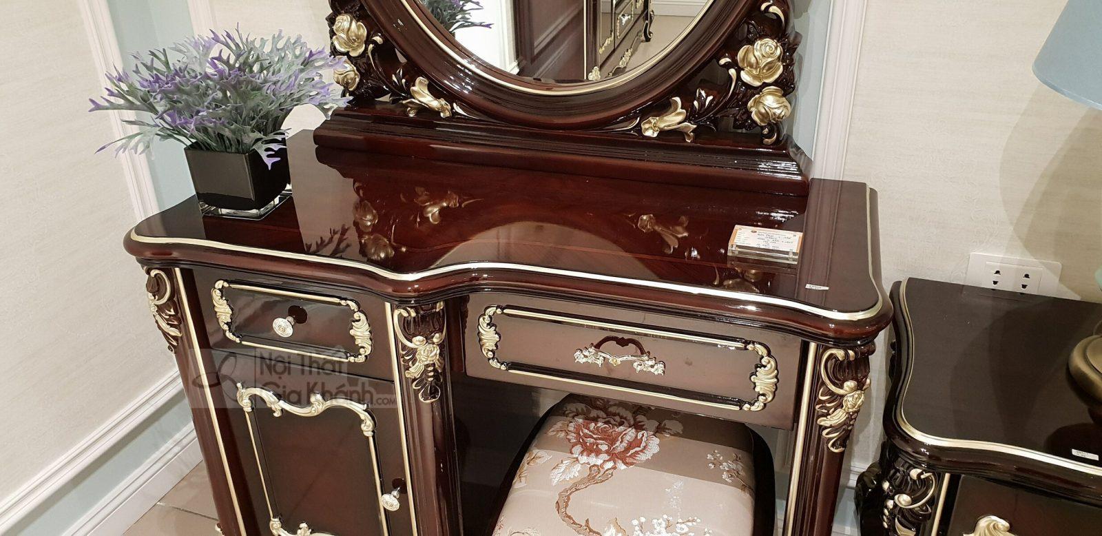 bo ban phan G8802C 7 - Bộ bàn trang điểm bằng gỗ cao cấp BD8802G