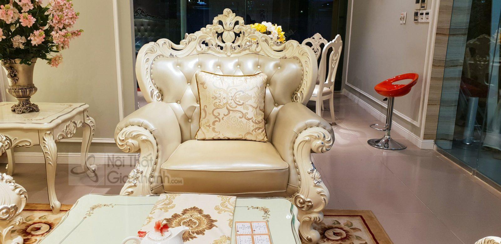 bo ghe sofa tan co dien sang trong cho phong khach sb931h 123 2 - Bộ ghế sofa tân cổ điển sang trọng cho phòng khách SB931H-123