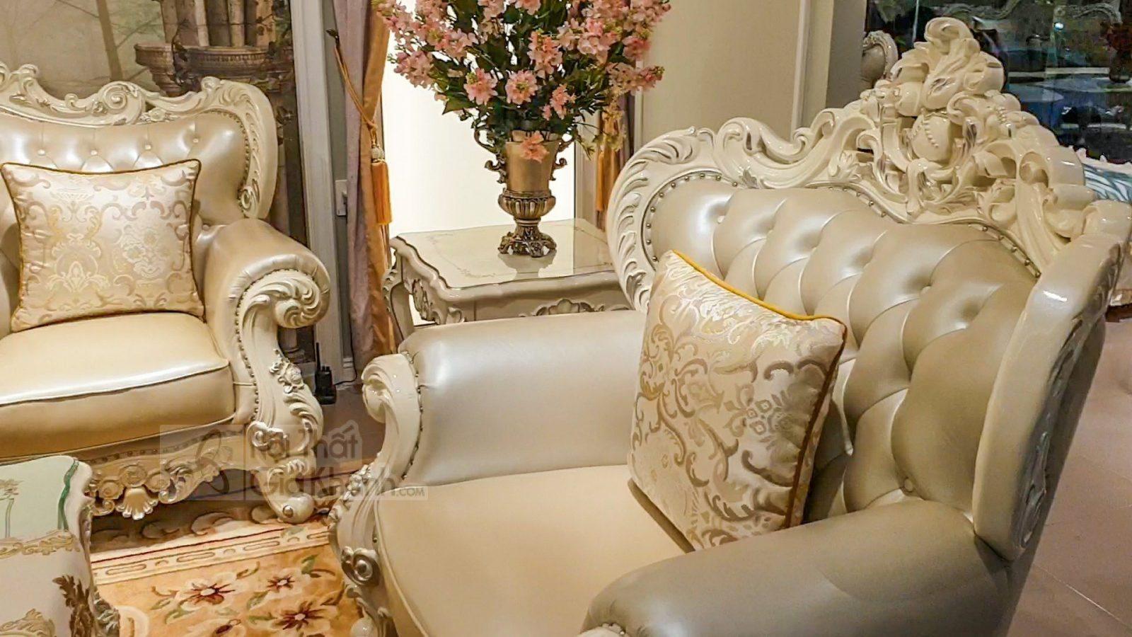 bo ghe sofa tan co dien sang trong cho phong khach sb931h 123 4 - Bộ ghế sofa tân cổ điển sang trọng cho phòng khách SB931H-123