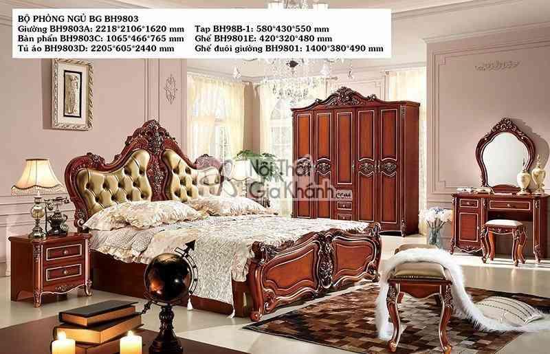 Giường Ngủ Nhập Khẩu Tân Cổ Điển Bh9803Al