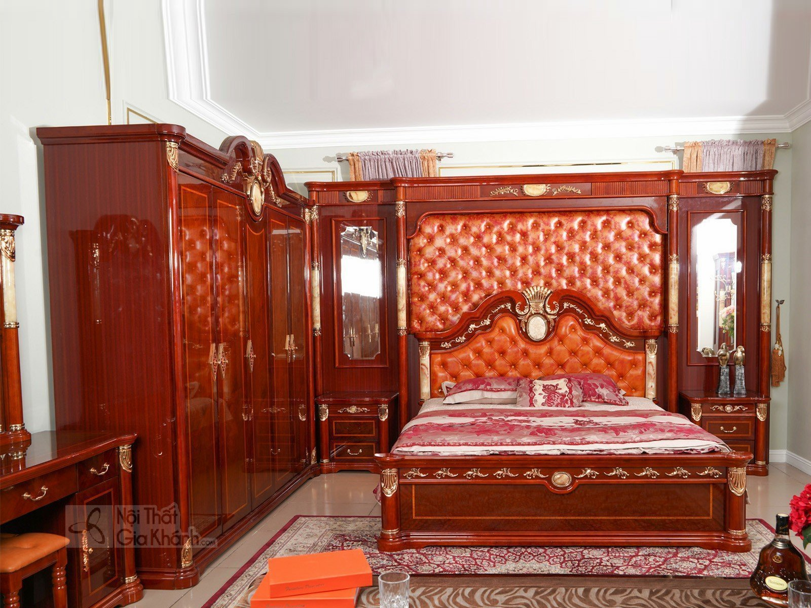 Giường Ngủ Kích Thước Lớn Phong Cách Hoàng Gia GI509-20