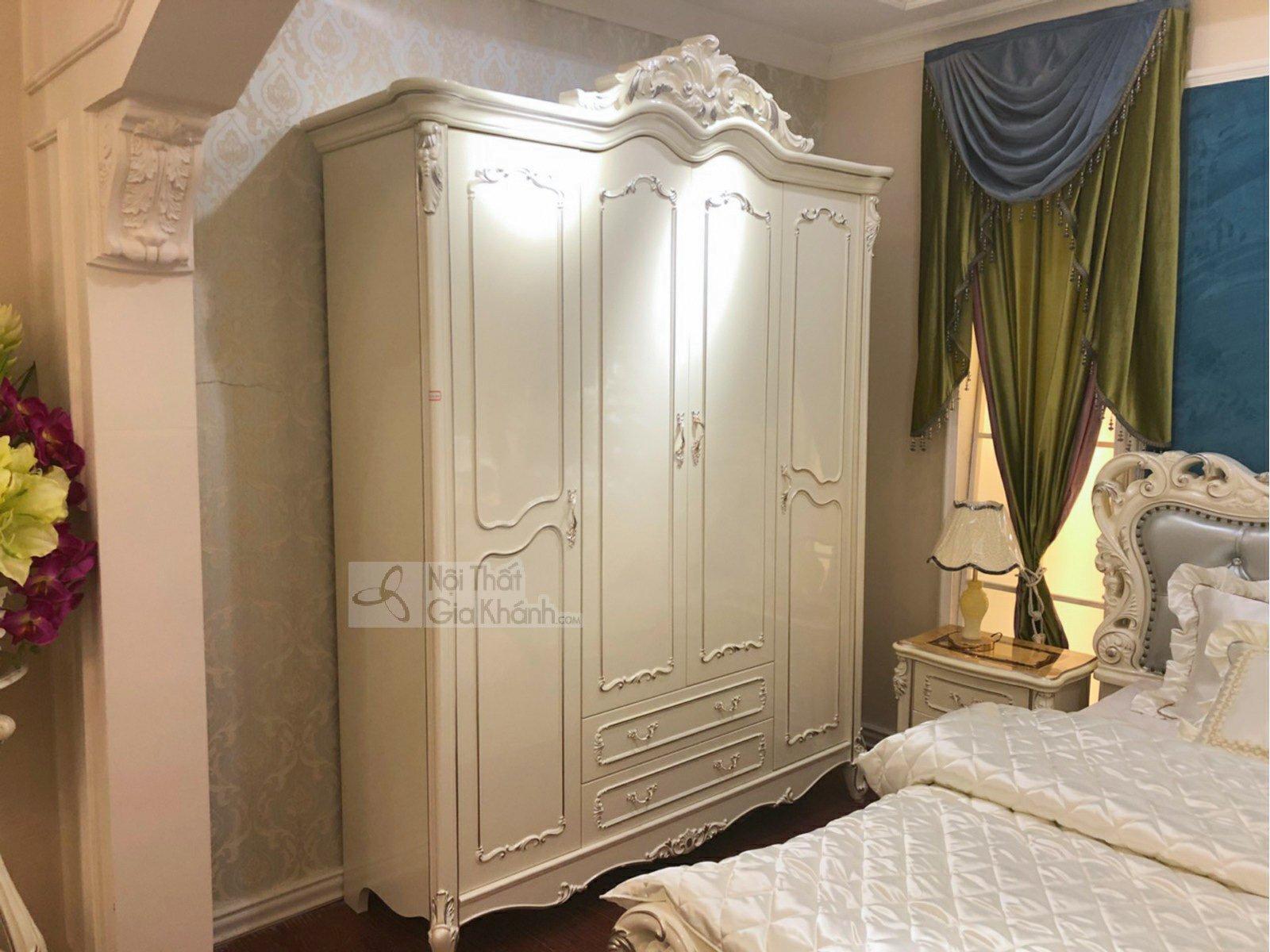 Bộ phòng ngủ tân cổ điển nhập khẩu cao cấp BN8832H