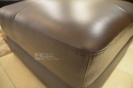 Đôn Sofa Rời Bọc Da Tự Nhiên Màu Cafe 9195N-Sf