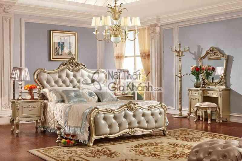 Giường Ngủ 1M5 Gỗ Cao Cấp Khung Gỗ Gi8822A (Mẫu Mới Nhất)