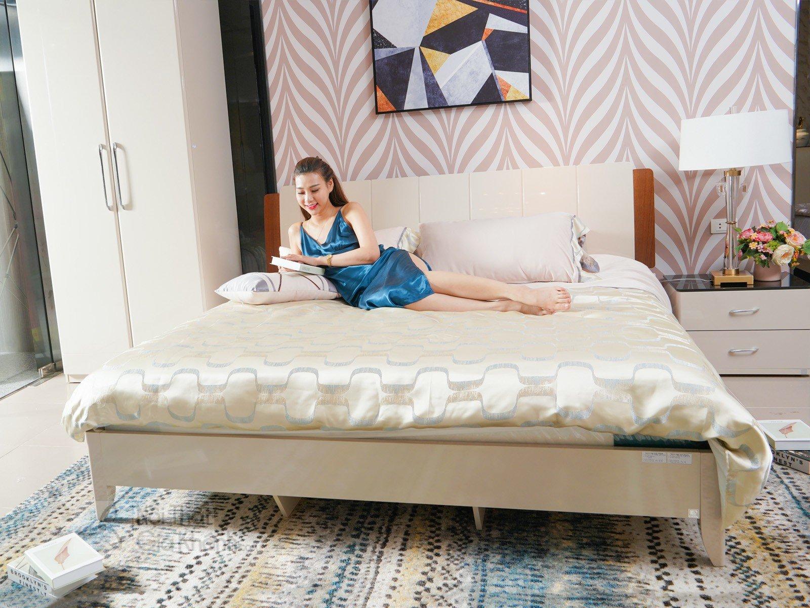 Giường Ngủ Hiện Đại Gỗ Tự Nhiên Nhập Khẩu 3319Al