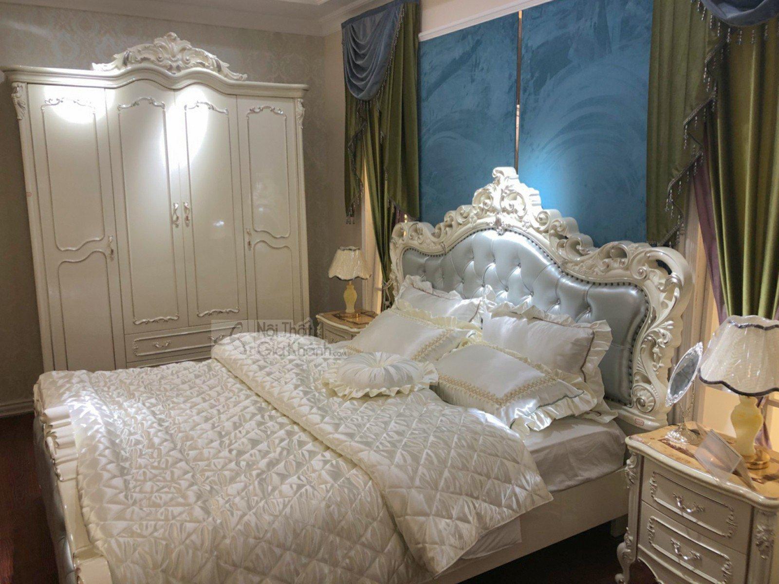 giuong ngu tan co dien phong cach phap gi8803h 3 - Giường ngủ tân cổ điển phong cách Pháp GI8803H