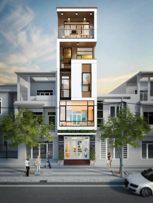 Những mẫu mặt tiền nhà phố đẹp ngất ngây - mau mat tien nha dep 6