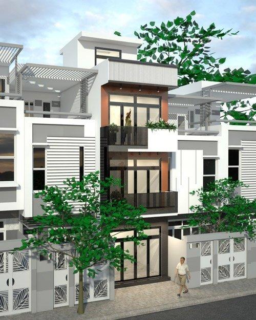 Những mẫu mặt tiền nhà phố đẹp ngất ngây - mau mat tien nha dep 7