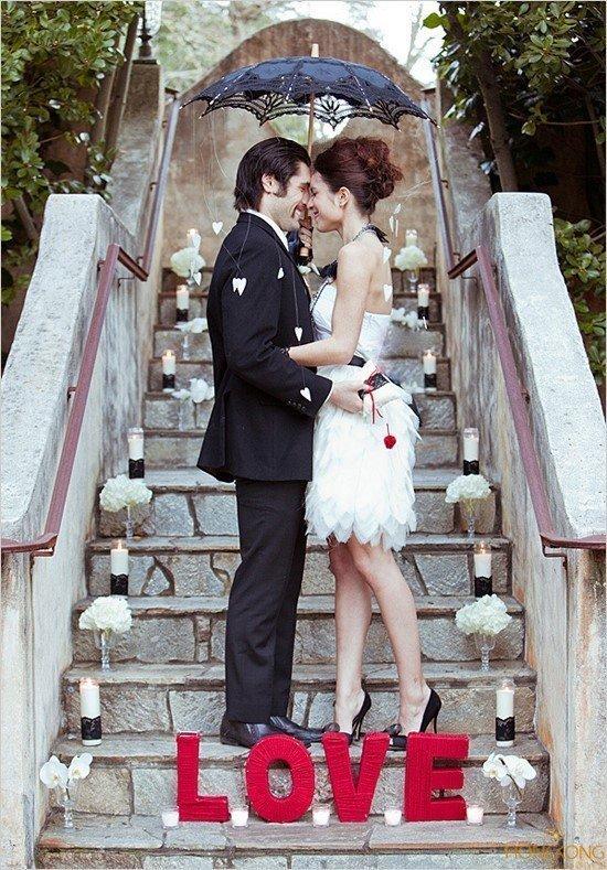 10 ý tưởng chụp ảnh cưới độc lạ cho các cặp đôi - nac thang