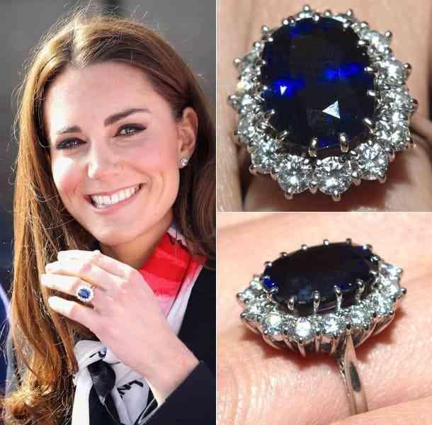 Nhẫn Cưới Đẹp Nhất Thế Giới Blue Sapphire With Diamond Halo