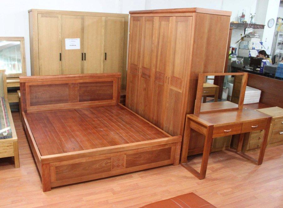 Bộ Giường Tủ Gỗ Anh Đào