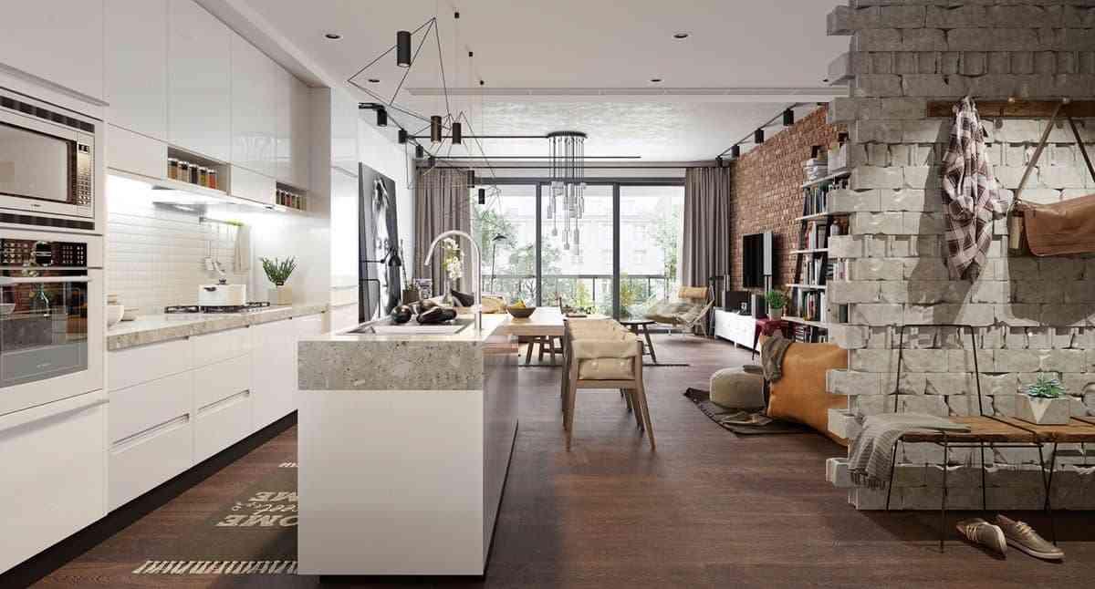 Thiết kế nội thất phòng khách - noi that nha o 12 1