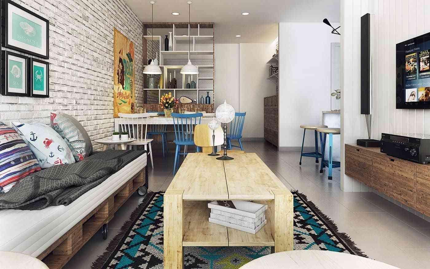 Thiết kế nội thất phòng khách - noi that nha o 13 1