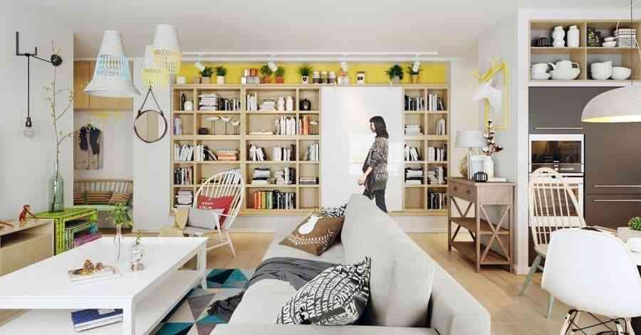 Thiết kế nội thất phòng khách - noi that nha o 8 1