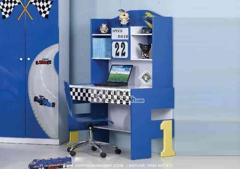 Siêu Thị Nội Thất Nhập Khẩu Showroom Bàn học đường đua F1 HY2052B
