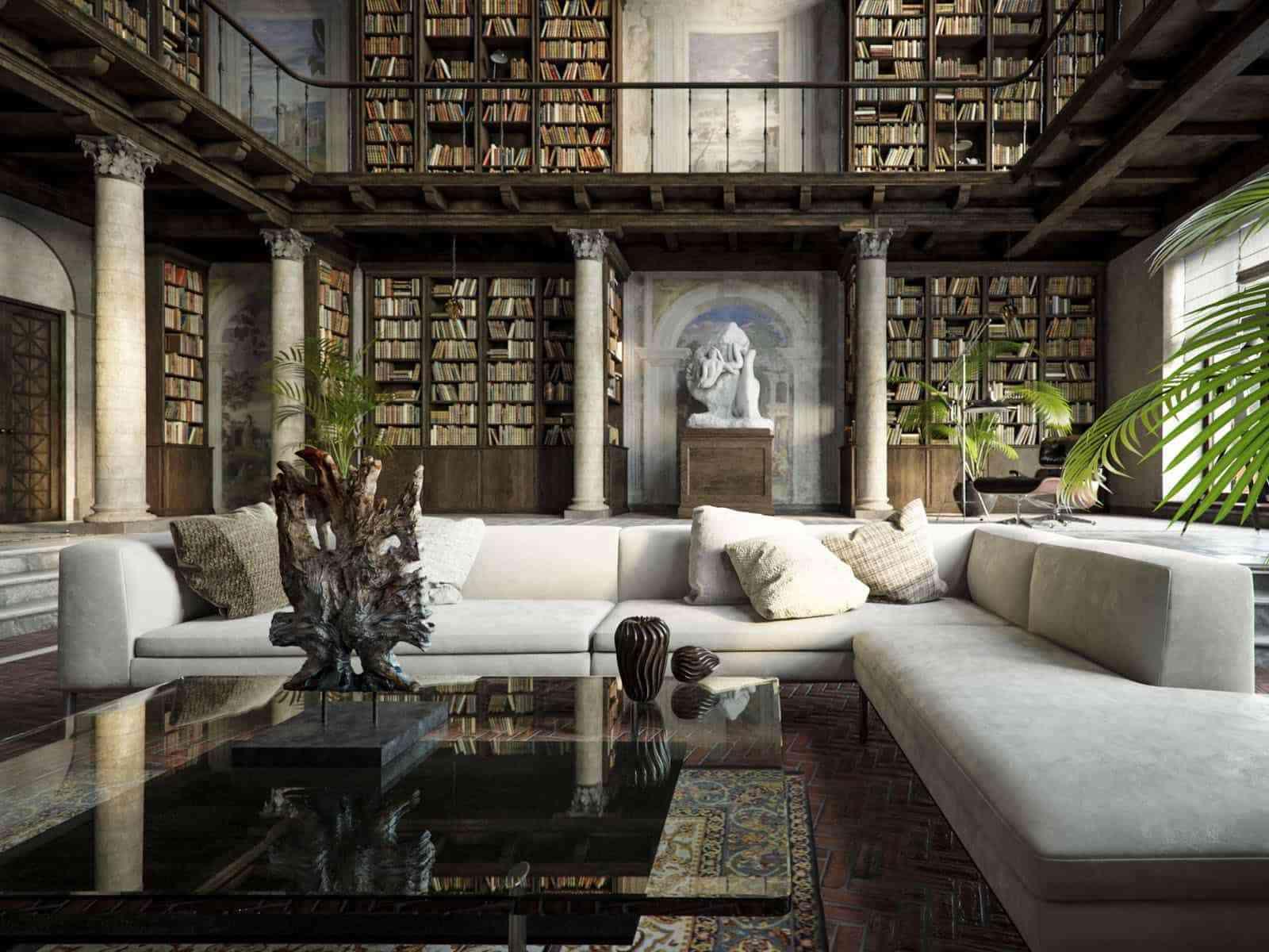 Showroom Noi That Nhap Khau Large Home Library