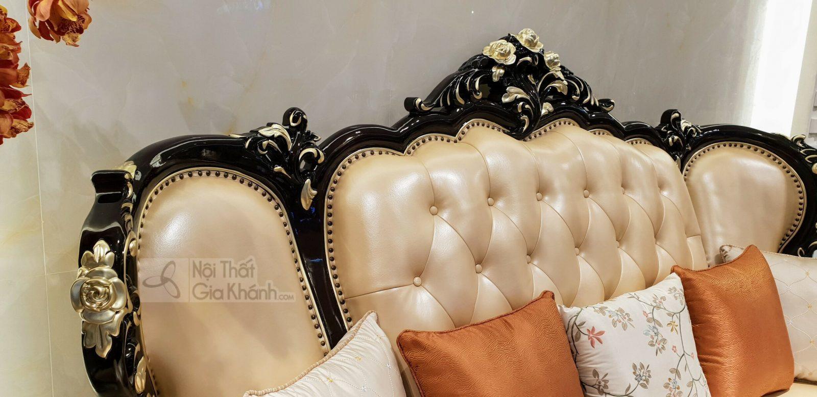 Bộ sofa da thật nhập khẩu phong cách cổ điển hoàng gia G955SF - sofa G955SF 11