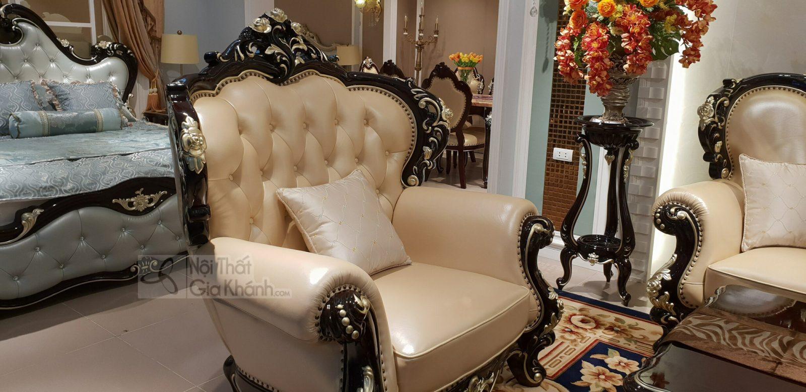 Bộ sofa da thật nhập khẩu phong cách cổ điển hoàng gia G955SF - sofa G955SF 15