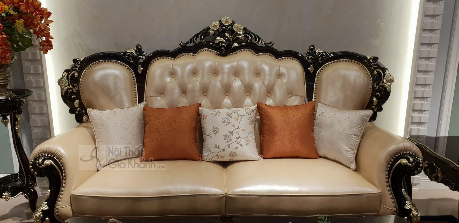 Bộ sofa da thật nhập khẩu phong cách cổ điển hoàng gia G955SF - sofa G955SF 8