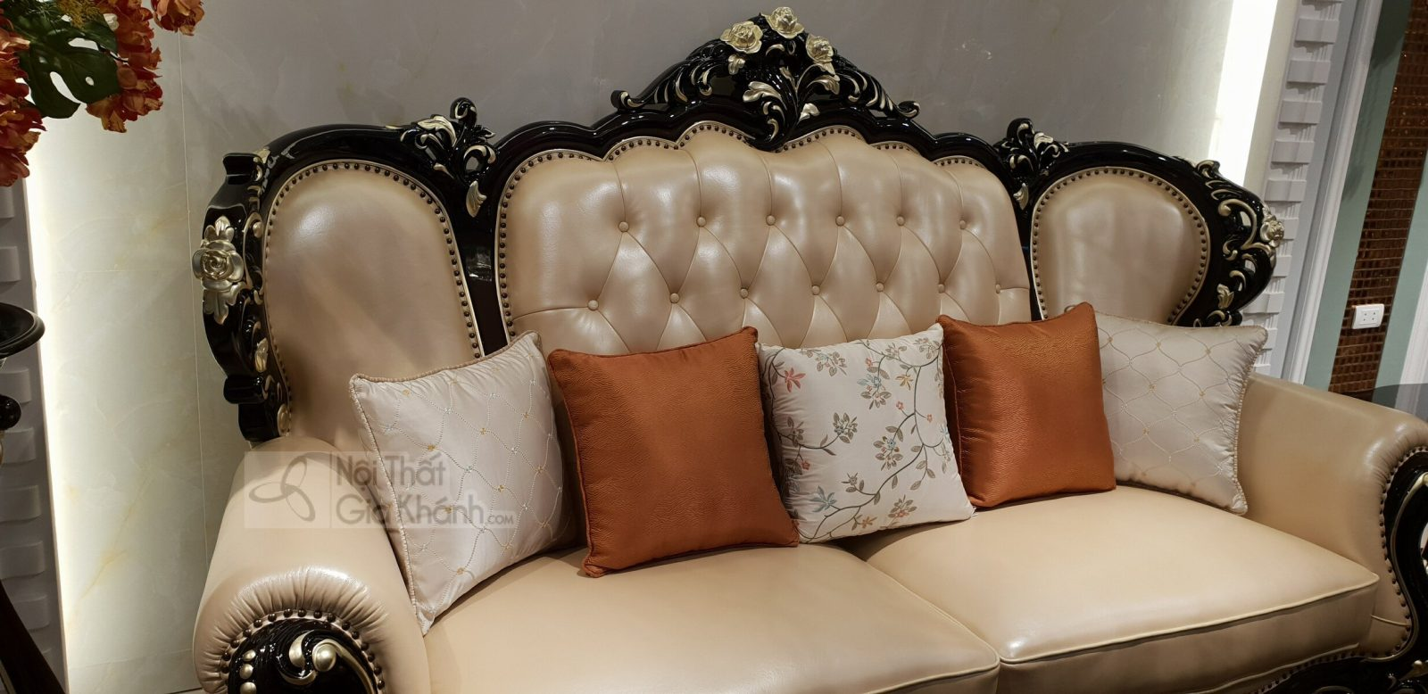 Bộ sofa da thật nhập khẩu phong cách cổ điển hoàng gia G955SF - sofa G955SF 9