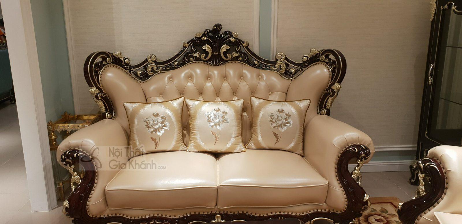 sofa TCD G921SF 1 - Sofa tân cổ điển da phong cách Pháp sang trọng G921SF