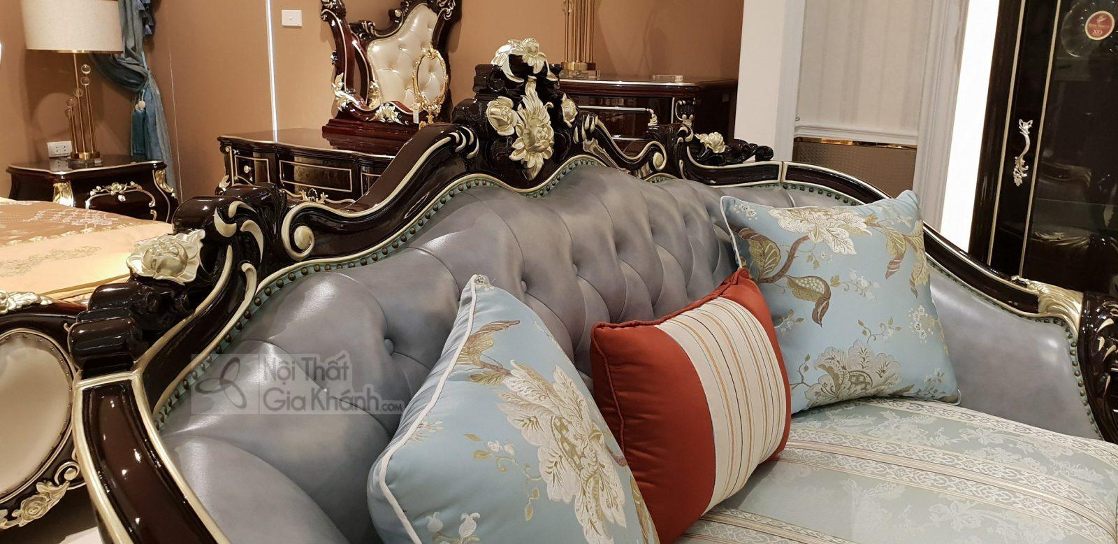 Bộ Sofa Da Cao Cấp Màu Nâu Phong Cách Tân Cổ Điển G936Sf