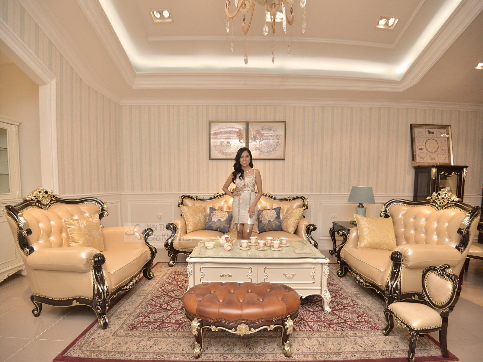 Sofa Phòng Khách Tân Cổ Điển Nhập Khẩu Sb981G-123