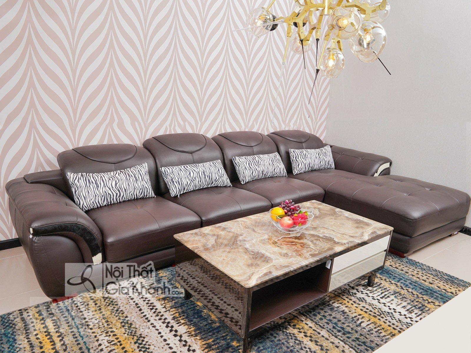 Sofa Nâu Cafe 3 Băng Góc Trái Mã 9191N-Sf