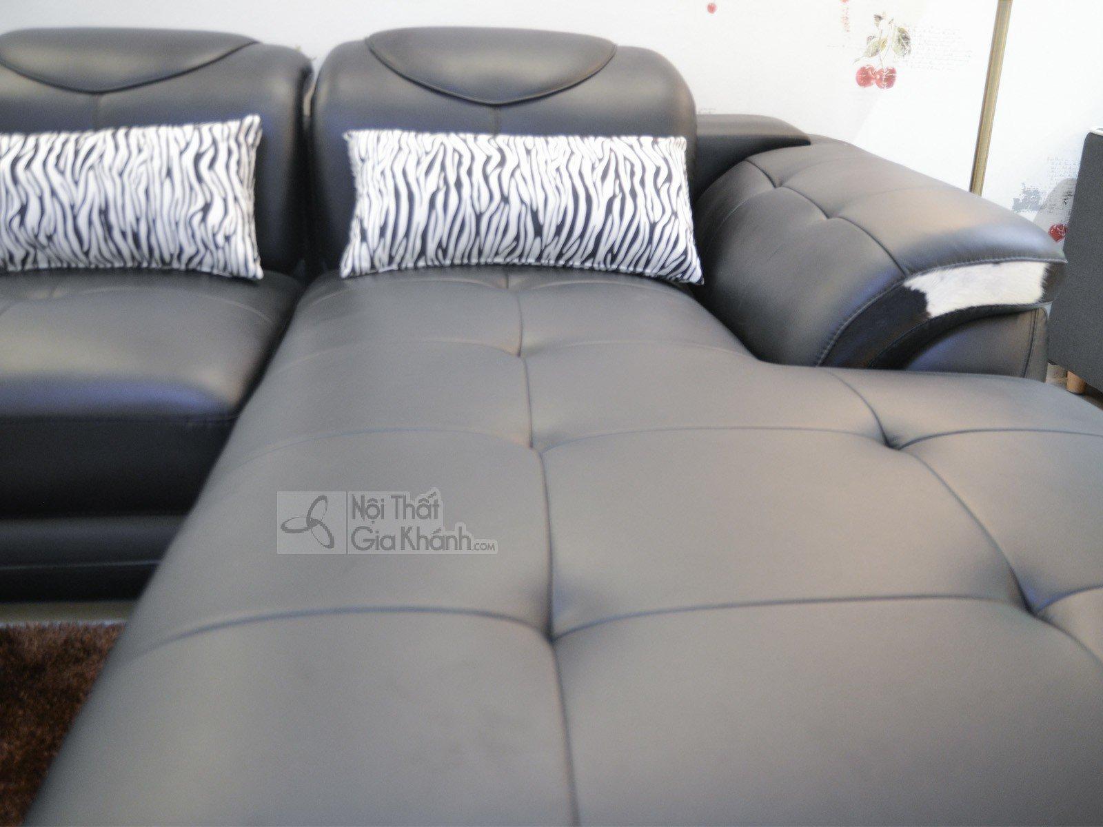 Sofa Da Màu Đen Hiện Đại 3 Băng Góc Trái Mã 9191D-Sf