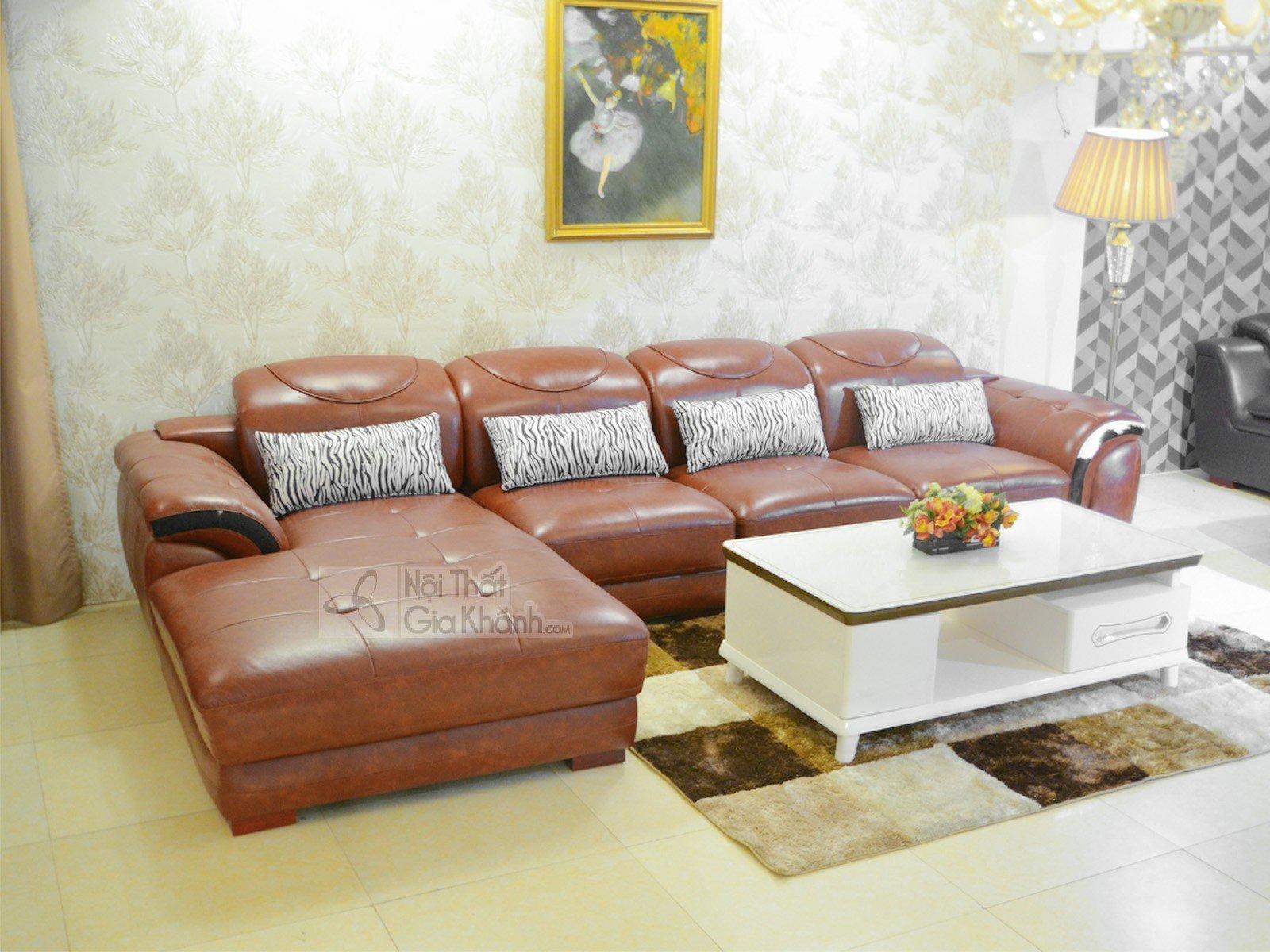 Sofa Da Nau Bo 3 Băng Góc Phải 9191B Sf 3 1