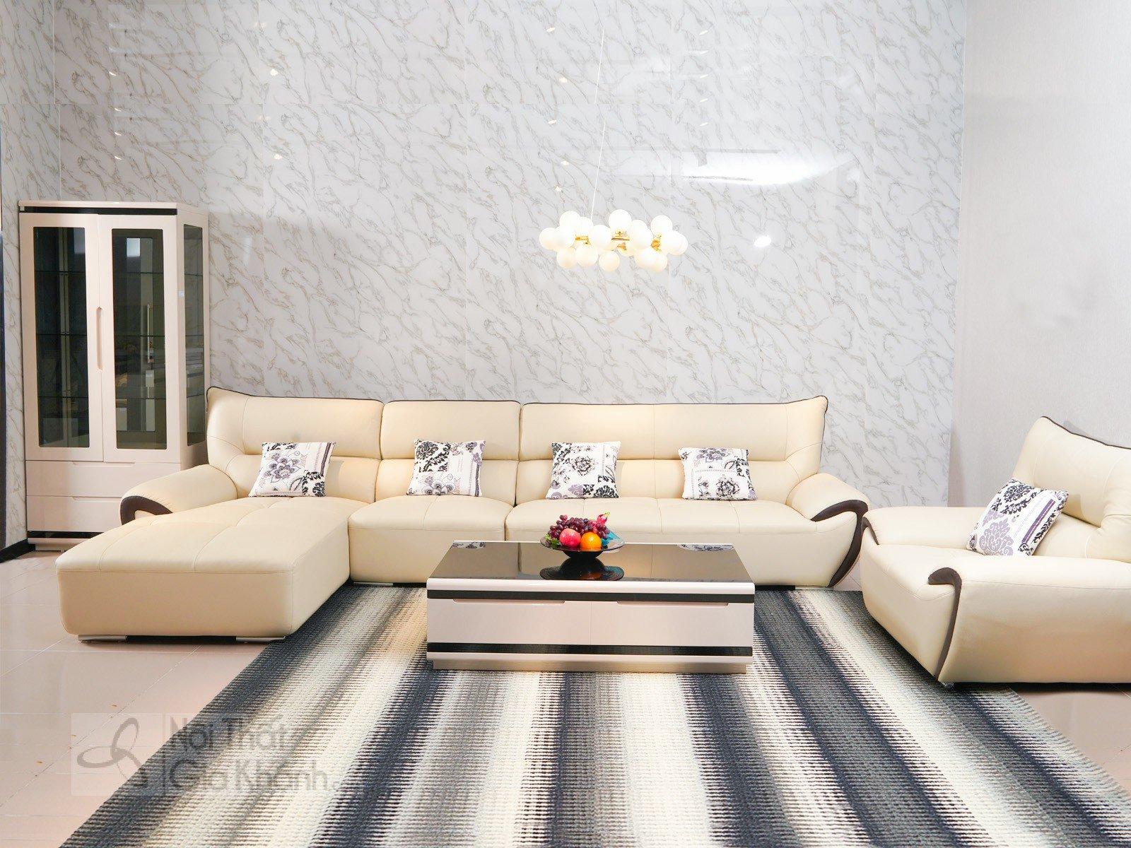 Bàn Trà (Bàn Sofa) Gỗ Phòng Khách Hiện Đại Mặt Kính Nhập Khẩu Bt3311K