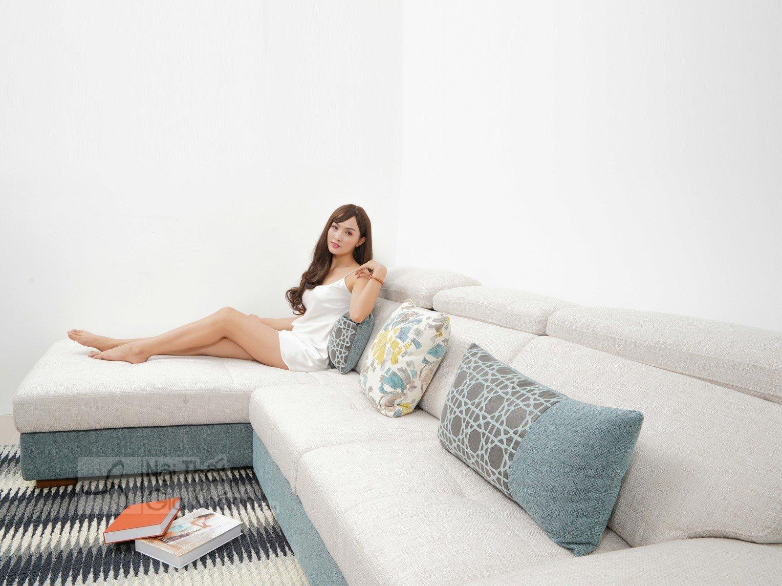 Bàn ghế Sofa vải nhập khẩu cao cấp 2 băng MR801C-SF