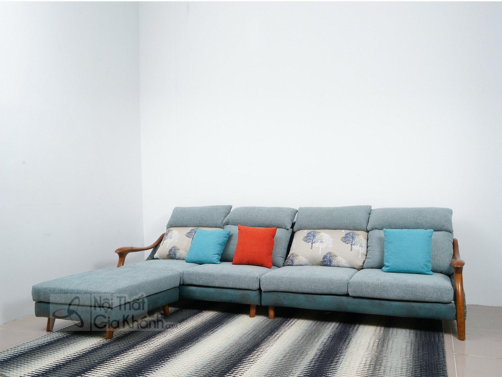Sofa Và Đôn Nỉ Khung Gỗ Hiện Đại Mr802C-Sf