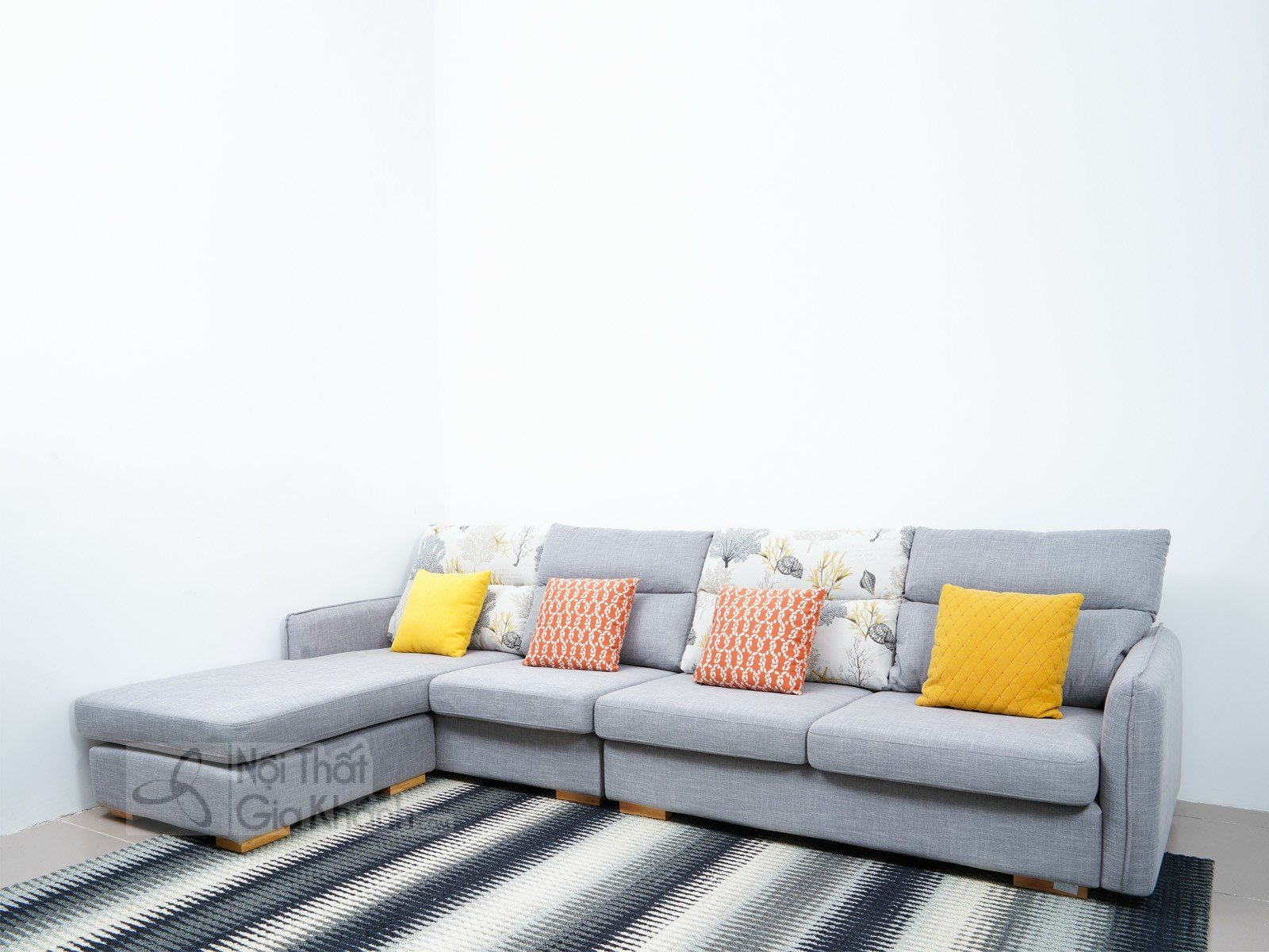 Sofa Chữ L 3 Băng Góc Phải Đệm Mút Cao Cấp Mr819A-Sf