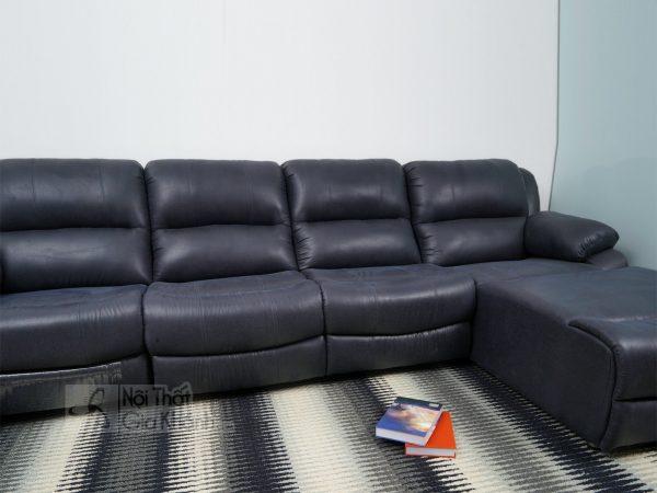 Sofa 3 Băng Góc Trái Nỉ Nano Có Ghế Nâng Thư Giãn Mr843Sf