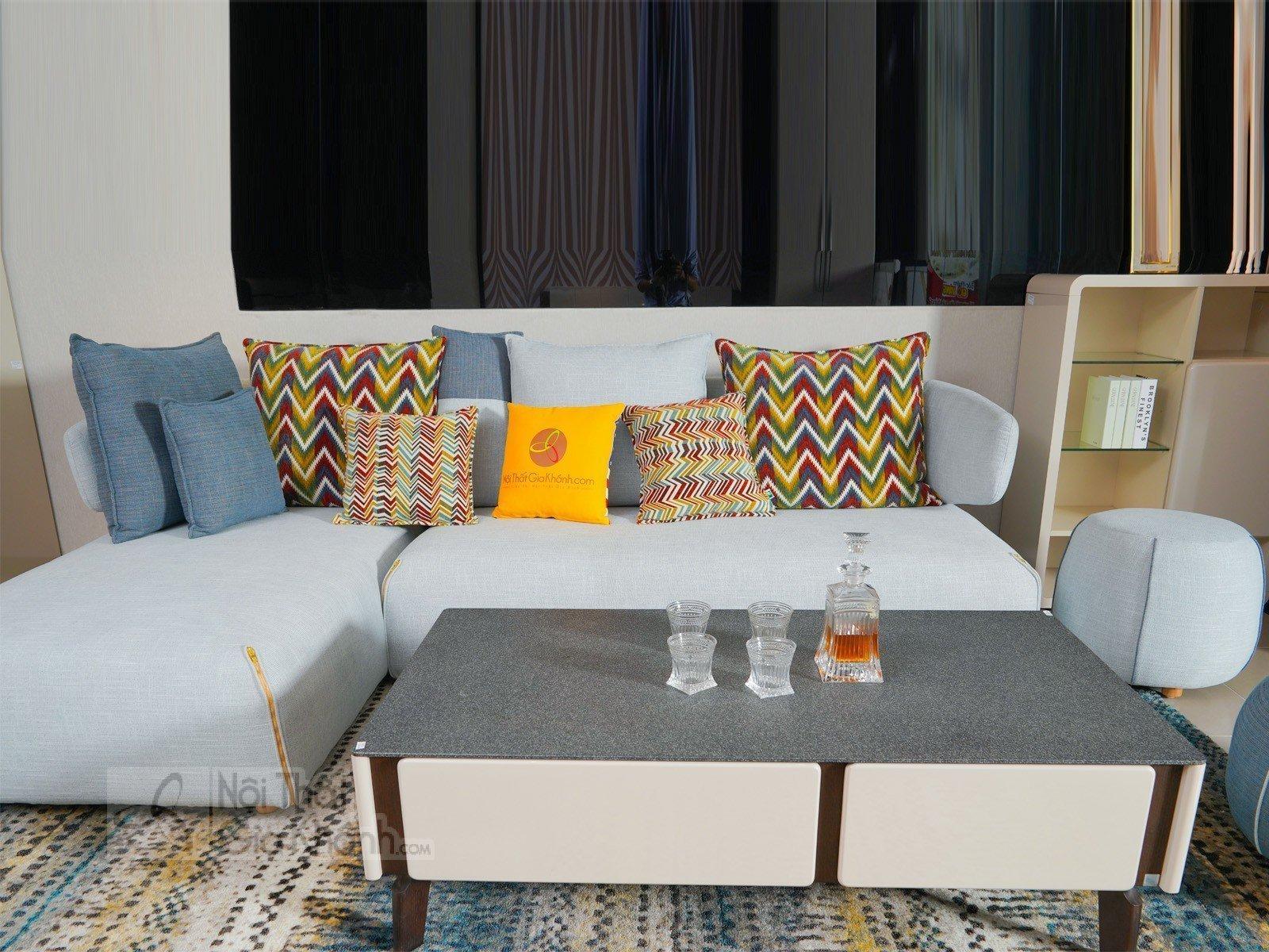 Bàn trà (Bàn Sofa) hiện đại phòng khách gỗ mặt kính BT3325K