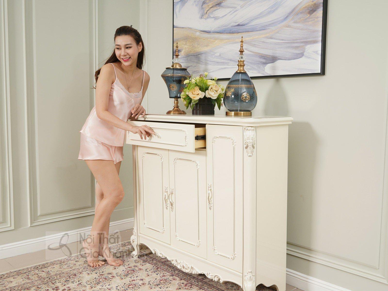 Tủ đựng giày gỗ tân cổ điển TG8801H