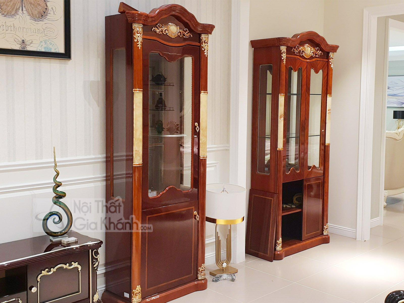 Tủ Rượu Gỗ Phòng Khách Đẹp Kh516Tr1-2