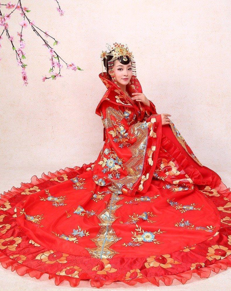 Áo Cưới Kiểu Trung Hoa Kiểu Áo Choàng Xòe
