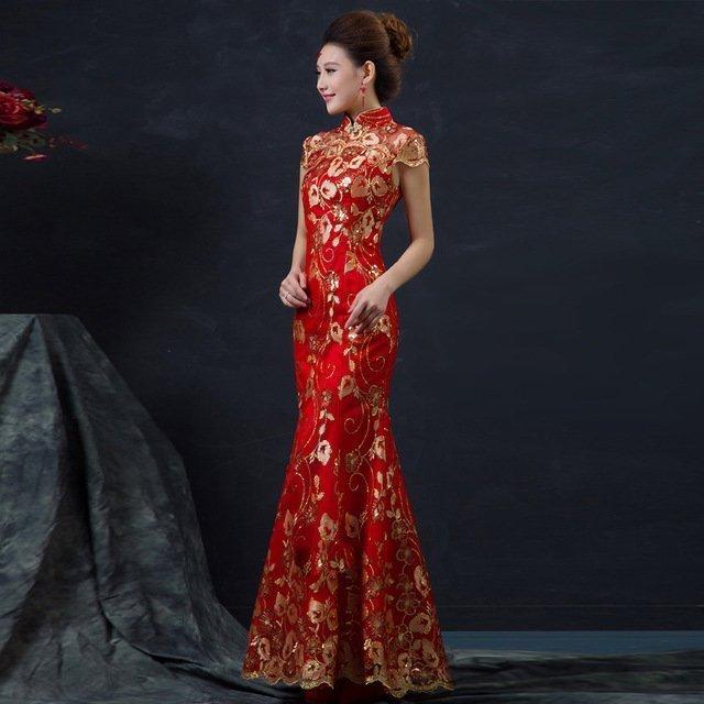 Áo Cưới Kiểu Trung Hoa Hình Đuôi Cá